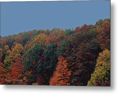 Smoky Mountains In Autumn Metal Print by DigiArt Diaries by Vicky B Fuller