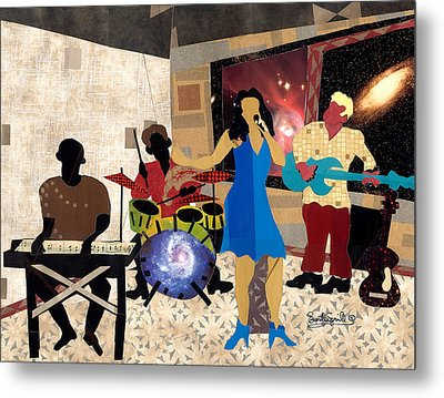 Smooth Jazz At City View Metal Print by Everett Spruill