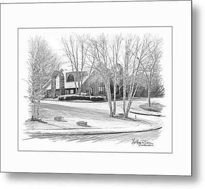 Snellville Police Station Metal Print by Anthony R Socci