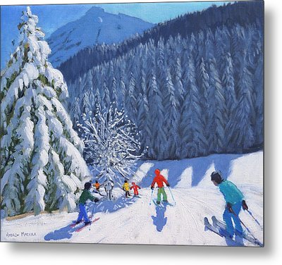 Snow Covered Trees Metal Print by Andrew Macara