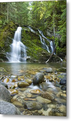 Snow Creek Falls Metal Print by Idaho Scenic Images Linda Lantzy