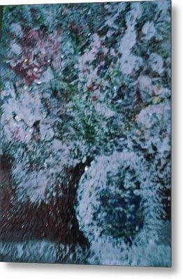 Snow Globe Gone Wild II Metal Print by Anne-Elizabeth Whiteway