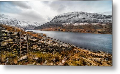 Snowcapped Valley Metal Print by Adrian Evans