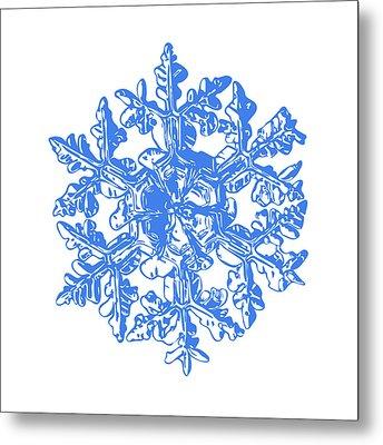 Snowflake Vector - Gardener's Dream White Version Metal Print by Alexey Kljatov