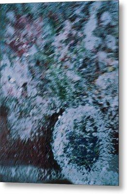 Snowglobe Gone Wild Blue Metal Print by Anne-Elizabeth Whiteway