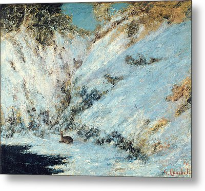 Snowy Landscape Metal Print by Gustave Courbet