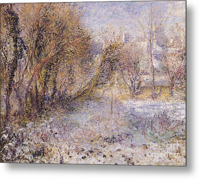 Snowy Landscape Metal Print by Pierre Auguste Renoir
