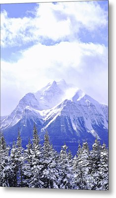 Snowy Mountain Metal Print by Elena Elisseeva
