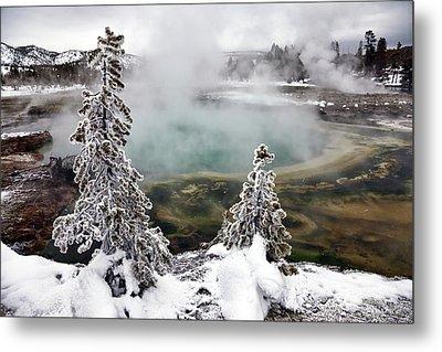 Snowy Yellowstone Metal Print by Jason Maehl