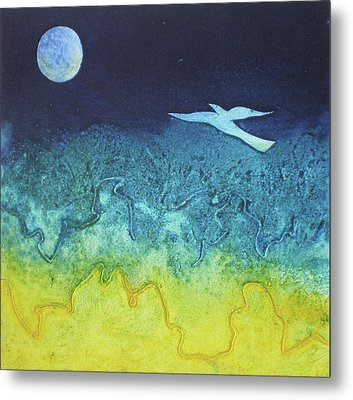 Soaring Into The Blue Metal Print by Susanne Clark