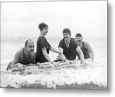 Society Plays In Palm Beach Metal Print by Underwood Archives