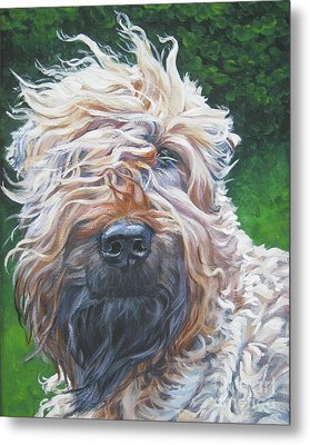 Soft Coated Wheaten Terrier Metal Print by Lee Ann Shepard