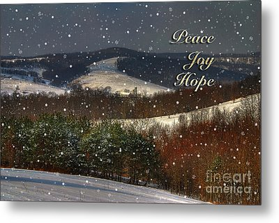 Soft Sifting Christmas Card Metal Print by Lois Bryan