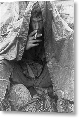 Soggy Soldier In Vietnam Metal Print by Underwood Archives