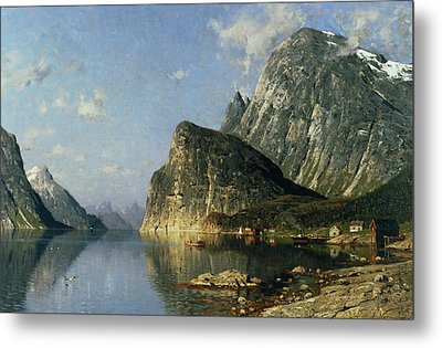 Sogne Fjord Norway  Metal Print by Adelsteen Normann