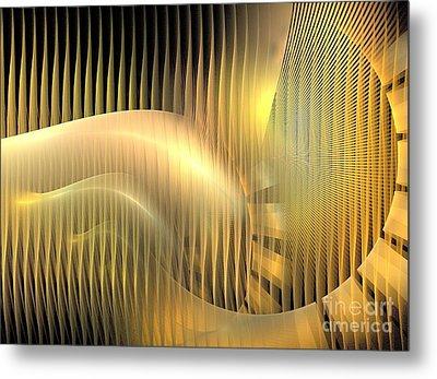Solar Chaise Metal Print by Kim Sy Ok