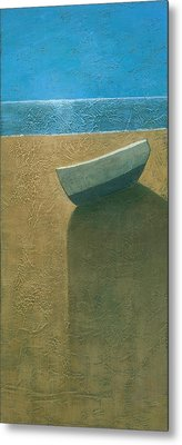 Solitary Boat Metal Print by Steve Mitchell