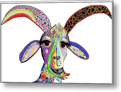 Somebody Got Your Goat? Metal Print by Eloise Schneider