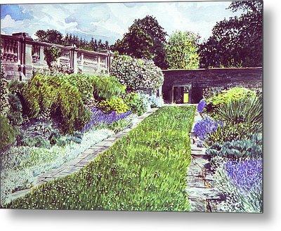 Somerset Garden Metal Print by David Lloyd Glover
