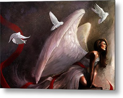 Sometimes They Weep Metal Print by Steve Goad
