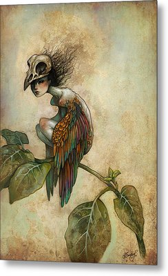 Soul Of A Bird Metal Print by Caroline Jamhour