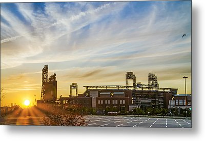 South Philly Sunrise - Citizens Bank Park Metal Print by Bill Cannon