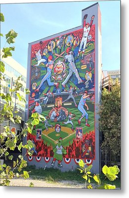 South Street Phillies Mural Metal Print by Alice Gipson
