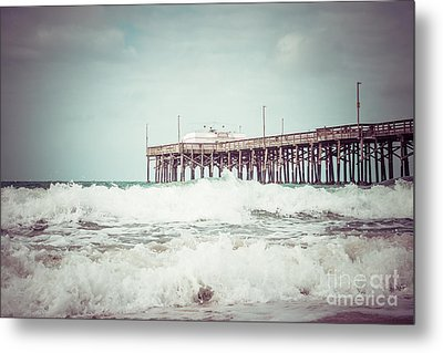 Southern California Pier Vintage 1950s Picture Metal Print by Paul Velgos