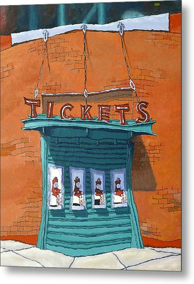 Sox Tickets Metal Print by Mike Gruber