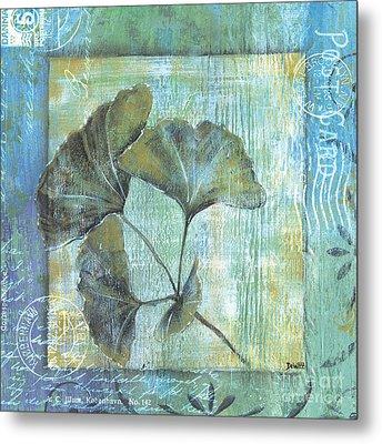 Spa Gingko Postcard 1 Metal Print by Debbie DeWitt