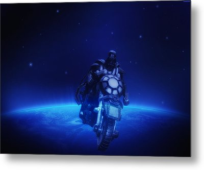 Space Cowboy Metal Print by Bill Cannon