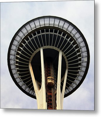 Space Needle- By Linda Woods Metal Print by Linda Woods