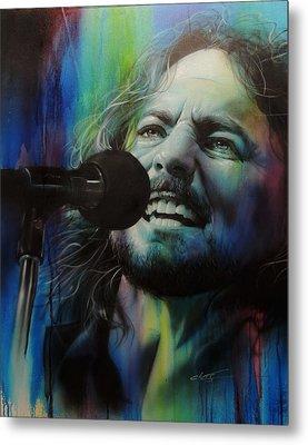 Eddie Vedder - ' Spectrum Of Vedder ' Metal Print by Christian Chapman Art