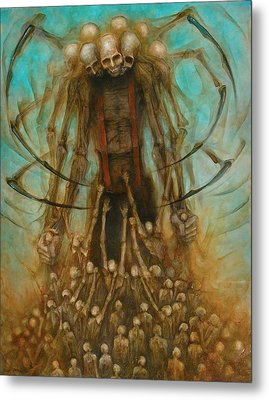 Spider Alien Metal Print by Robert Anderson