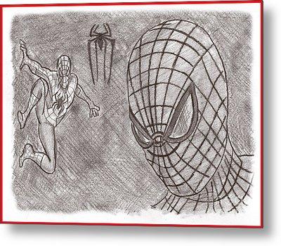 Spiderman Metal Print by Chris DelVecchio