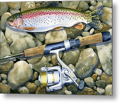 Spin Trout Metal Print by Mark Jennings