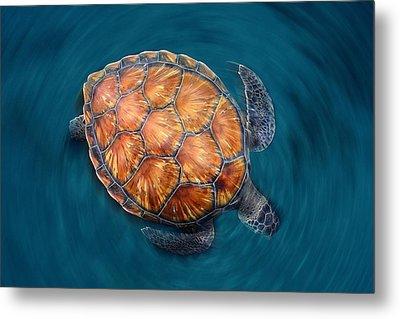 Spin Turtle Metal Print by Sergi Garcia