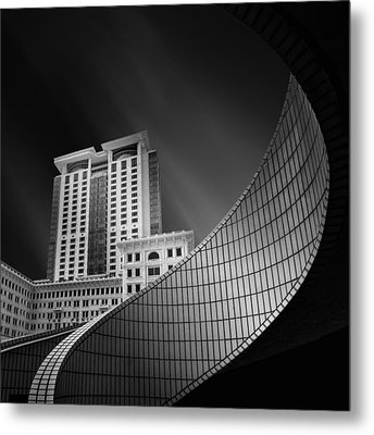 Spiral City Metal Print by Mohammad Rafiee
