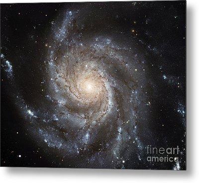 Spiral Galaxy M101 Metal Print by NASA ESA Space Telescope Science Institute