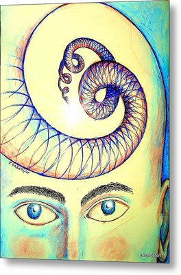 Spiral Of Knowledge Metal Print by Paulo Zerbato
