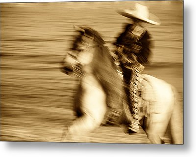 Spirit Of The Charro3 Metal Print by Nick Sokoloff