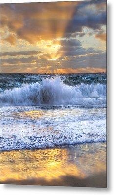 Splash Sunrise II Metal Print by Debra and Dave Vanderlaan