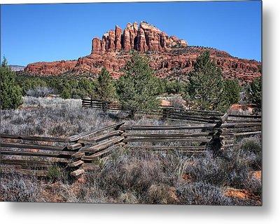 Split Rail Fence - Sedona - Arizona Metal Print by Nikolyn McDonald