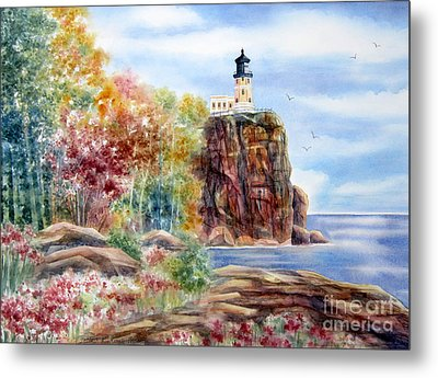 Split Rock Lighthouse Metal Print by Deborah Ronglien