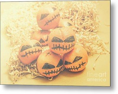 Spooky Halloween Oranges Metal Print by Jorgo Photography - Wall Art Gallery
