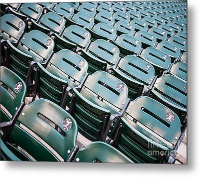 Sports Stadium Seats Photo Metal Print by Paul Velgos