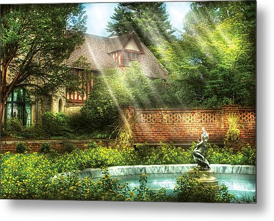 Spring - Garden - The Pool Of Hopes Metal Print by Mike Savad