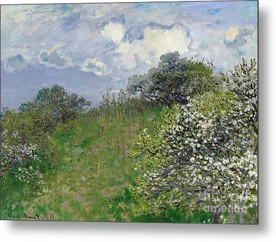 Spring Metal Print by Claude Monet