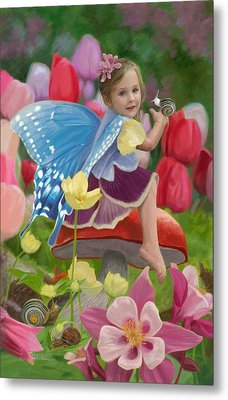 Spring Fairy Metal Print by Lucie Bilodeau