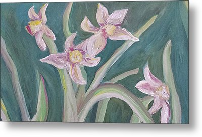 Spring Flowers Metal Print by Cherie Sexsmith